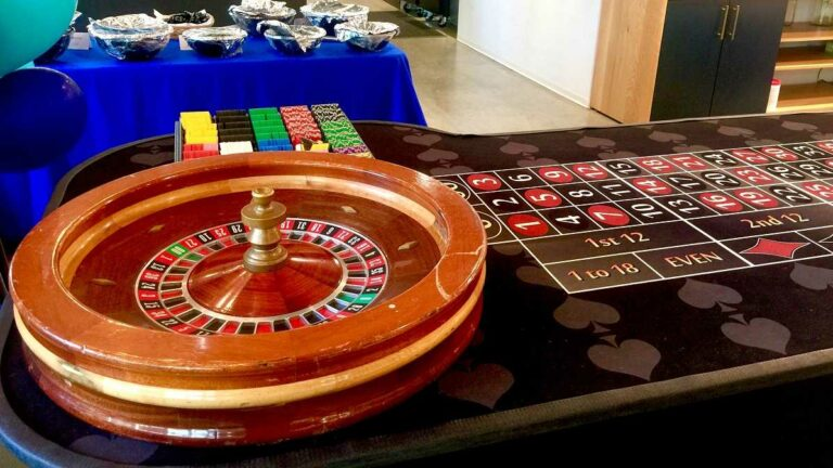 Roulette Table at Sacramento Casino Parties